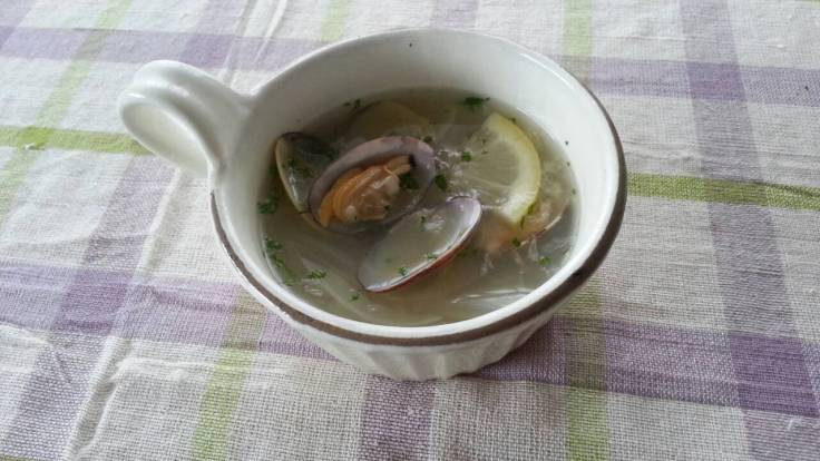 Clam and Onion Shio Lemon Soup