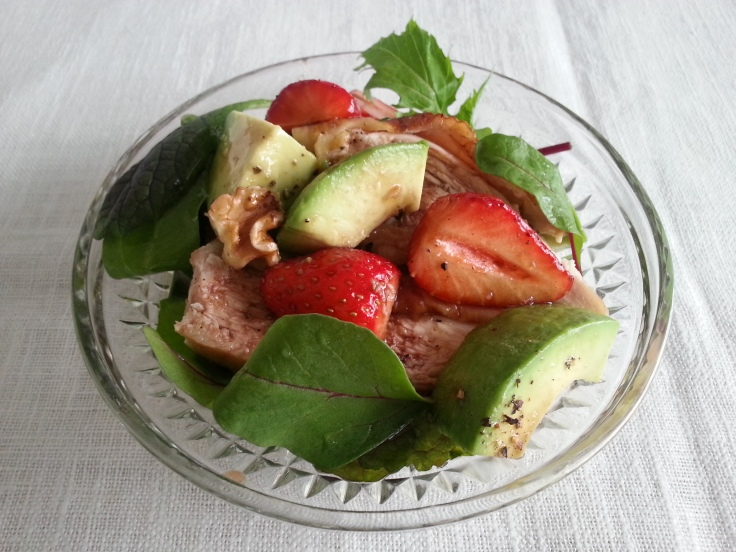 Strawberry and Spring Vegetable Salad & Strawberry Dressing