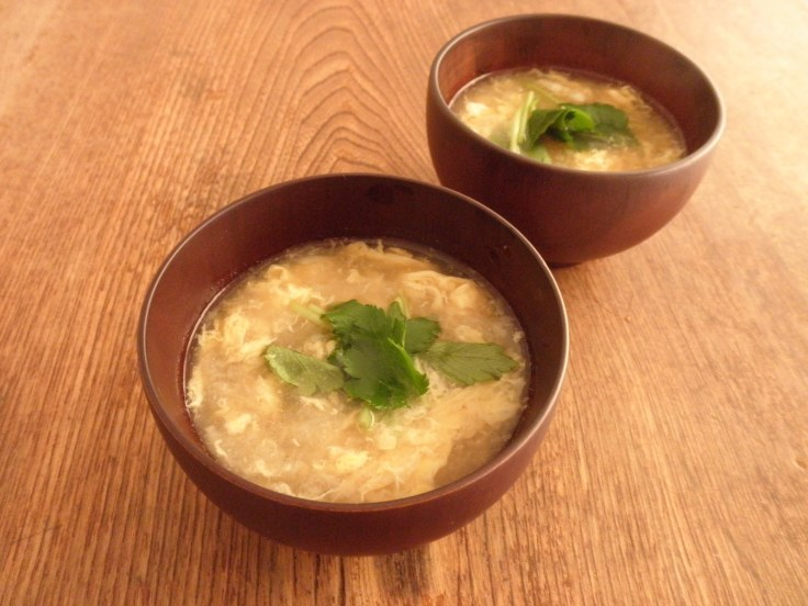 Japanese Yam and Mitsuba Egg Drop Soup
