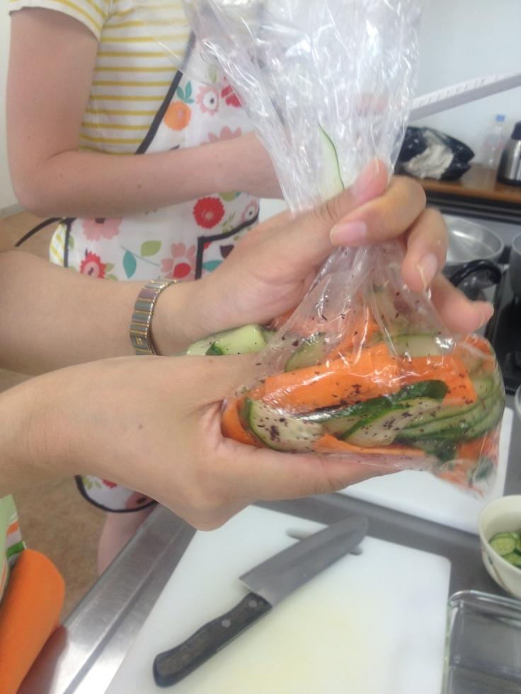 Cucumber and Carrot Yukari-ae