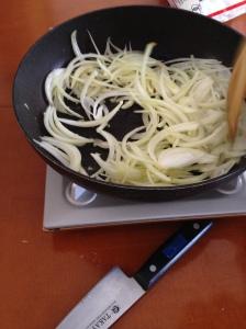 sauté onion