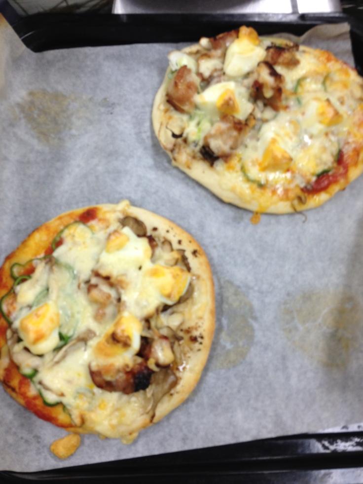 Teriyaki Chicken and Maitake Pizza