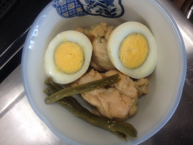 Chicken and Boiled Eggs Simmered with Umezu