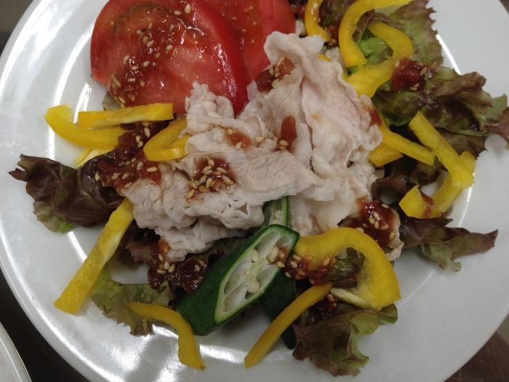 Buta Shabu Salad with Umeboshi Dressing